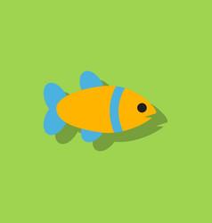 Aquarium fish silhouette fish sticker vector