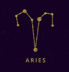 Aries zodiac horoscope sign astrology symbol vector