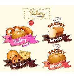 Bakery shop logo design vector image