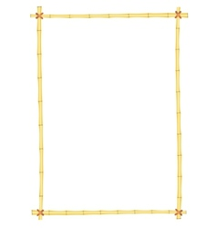 bamboo frame pattern vector image