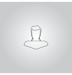 boy icon head silhouette vector image