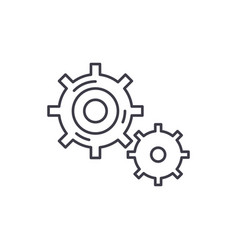 business processes line icon concept business vector image