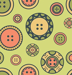Buttons on green vector