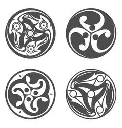Celtic spiral ornament geometric vector