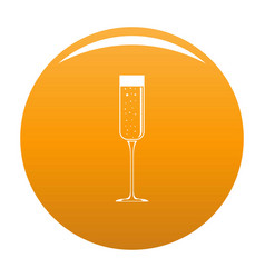 Champagne glass icon orange vector