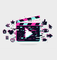 cinema background banner with movie vector image
