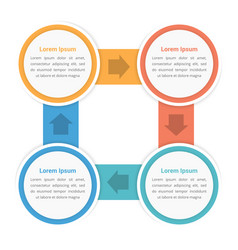 circle diagram with four steps vector image