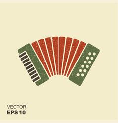 classical bayan accordion harmonic icon vector image