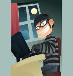 computer criminal vector image