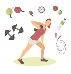concept female healthy lifestyle infographics vector image