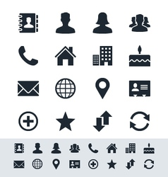 Contact icon set simplicity theme vector image