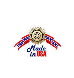 creative sign made in usa vector image