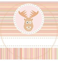 cute deer face vector image