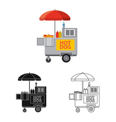 Design of market and exterior icon set of vector