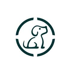 dog icon logo concept vector image