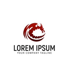 dragon logo design concept template vector image