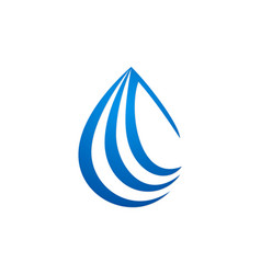 Droplet water drop logo vector