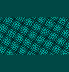 fabric in green color seamless tartan pattern vector image