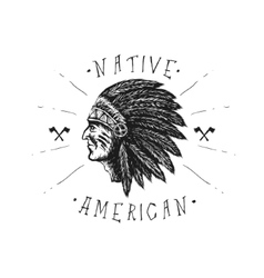 Face indian chief vector