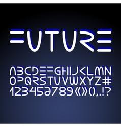 Futuristic minimalistic alphabet vector image