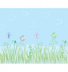 grass landscape vector image vector image