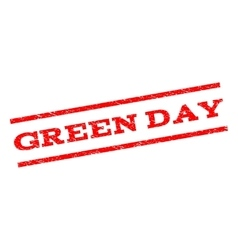 Green Day Watermark Stamp vector