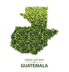 Green leaf map guatemala vector