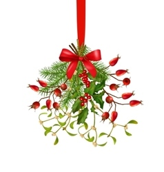 Hanging Bunch of Christmas Decoration vector