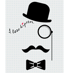 hipster in bowler hat vector image