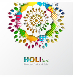 Holi holiday design vector