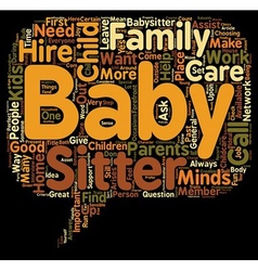 How to hire the perfect baby sitter or the child vector