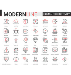 human brain productivity concentration classic vector image
