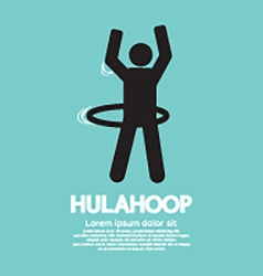 Human Playing A Hulahoop Symbol vector