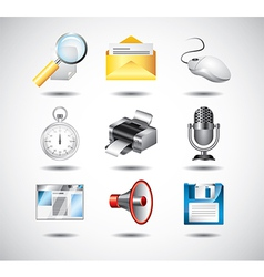 icons operationsystem items vector image