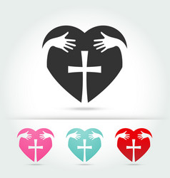 isolate icon of the christian cross vector image