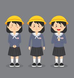 Japanese elementary school character vector