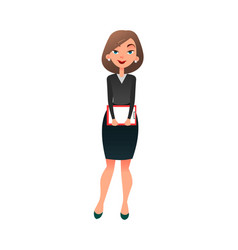 job interview young cartoon woman candidate for vector image