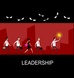 Leadership business concept vector