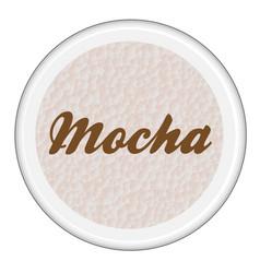 Mocha coffee icon vector