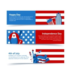 New York USA banner set vector