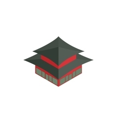 Pagoda in South Korea icon isometric 3d style vector image