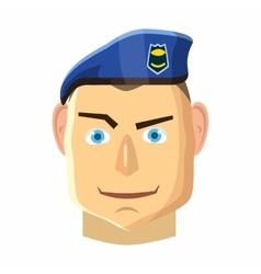Paratrooper icon cartoon style vector