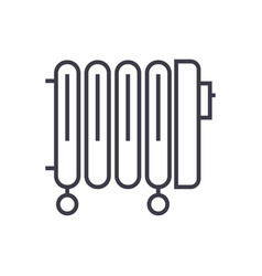 radiatoroil heater line icon sign vector image