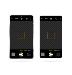 realistic detailed 3d smartphone with camera vector image
