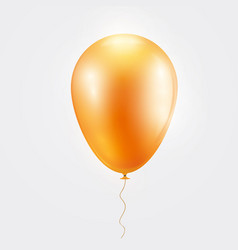realistic orange baloon on isolated on white vector image