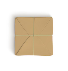 Realistic template of parcel wrapped up with brown vector