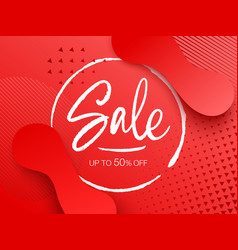 sale design with gradient shapes vector image