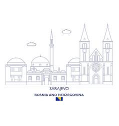 Sarajevo city skyline vector