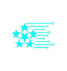 star digital tech logo design inspiration vector image