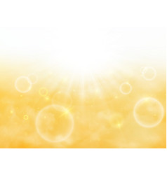 Summer of sun burst on soft light with yellow vector